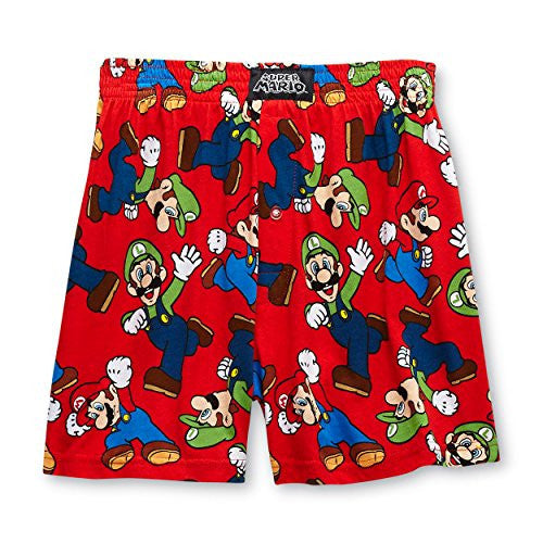Super Mario and Luigi Mens Boxer Shorts