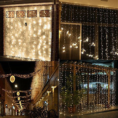 300leds Bedroom LED Icicle Curtain Lights Window Wall Waterfall Decoration Lights