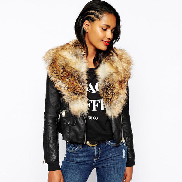 Faux Leather Winter Jackets