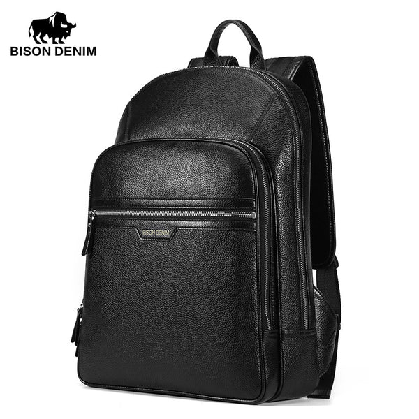 Genuine Leather Large Backpack Men