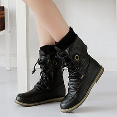 Half Knee High Boots Vintage Boots