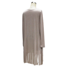 Fringe Women Blouses fashion loose long blouse
