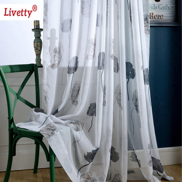 Black White Sheer Curtains For Living