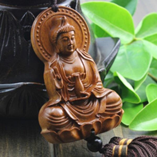 Bodhisattva design wooden craft handmade wood carving