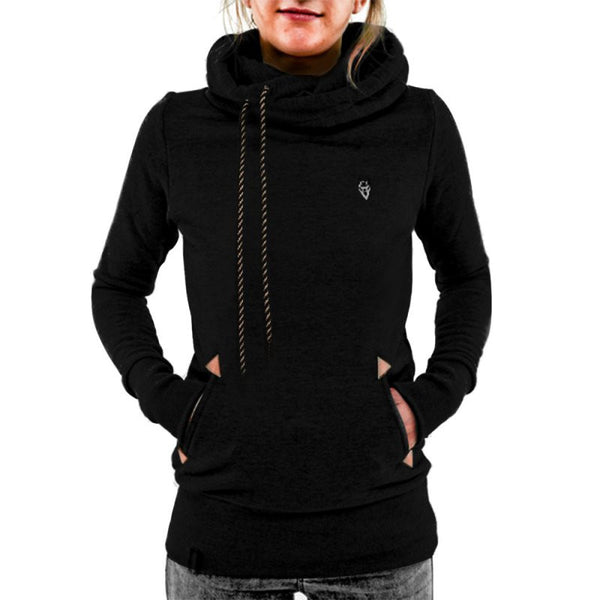 Embroidered Pocket Hoodie For Women