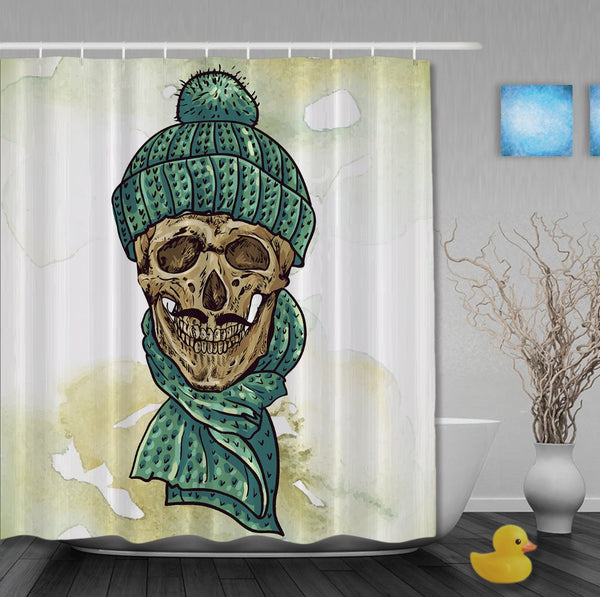 Skull Bathroom Curtain Waterproof