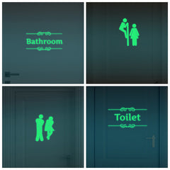 Creative Luminous Bathroom Wall Stickers