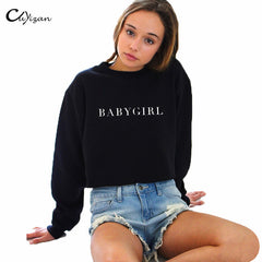 Babygirl Sweatshirts Women Pullovers Casual long Sleeve