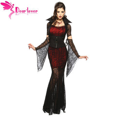 Dear Lover 5 Pieces Adult Halloween Vixen Vampire Costume