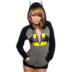 Batman Print Women Long Sleeve Hoodies Sweatshirts