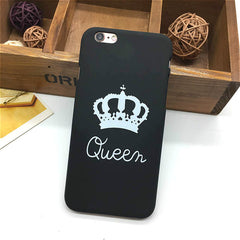 King Queen Hard Plastic Ultra Thin Back Covers for Apple iPhone 6 6s 5 5s SE