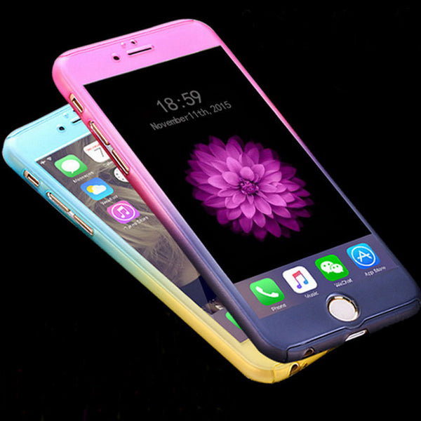 Fashion Gradient Phonen+ Tempered Glass Screen Protector For iPhone 5 5S SE 6 6S Plus 6 Plus