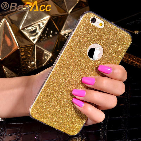 Fashion Shinning Ultra-thin Silicone Phone Case for Apple iPhone 6s 6 Plus