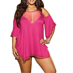 Pajamas Lingerie Lace Sexy Lingerie Costume Petite and Plus Size
