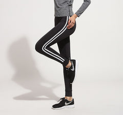 Fitness Long Striped leggings ladieswear