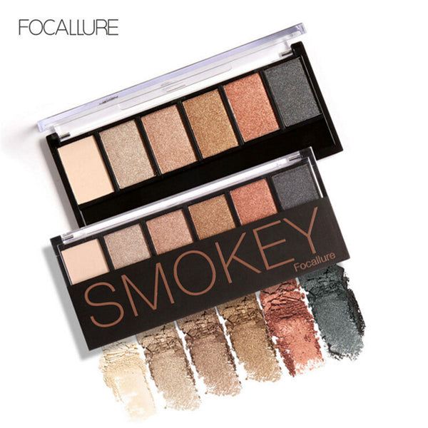 6 Colors Eyeshadow Palette Glamorous Smokey Eye