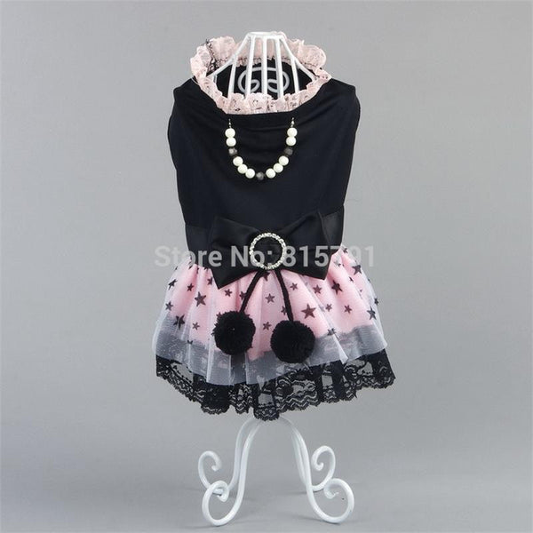 Summer Pet Lace Tulle Skirt Dog Dress