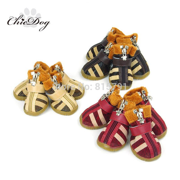 Cute Cotton-Padded Dog Shoes