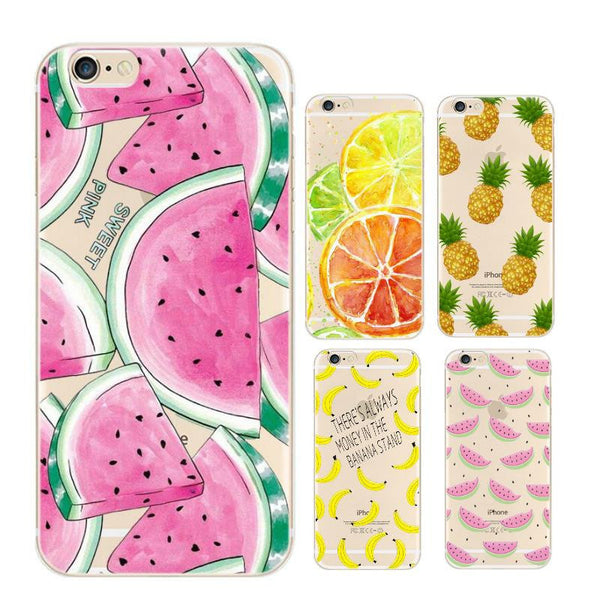 Fruit Pineapple Banana Soft Silicone Case For Apple iPhone