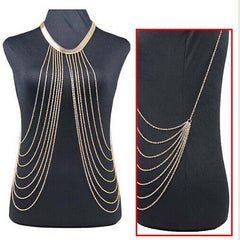 Gold Sexy Body Chain Women Necklaces&Pendants