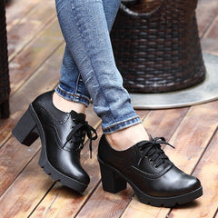 Vintage Cow Split Leather Winter Ankle Boots