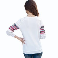 White/Blue Sweatshirt Women Hoodies Women