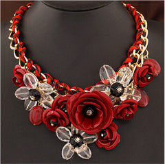 Flower Statement Necklace Jewelry
