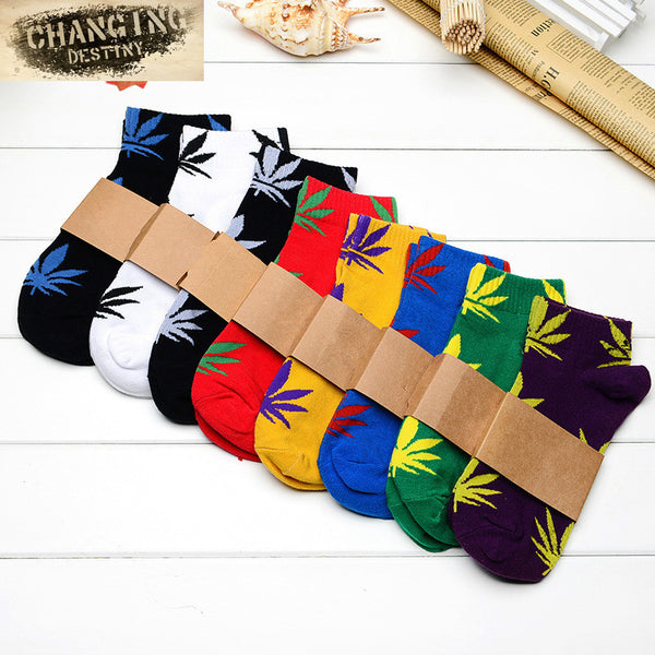 Harajuku Maple Leaf Socks Men's