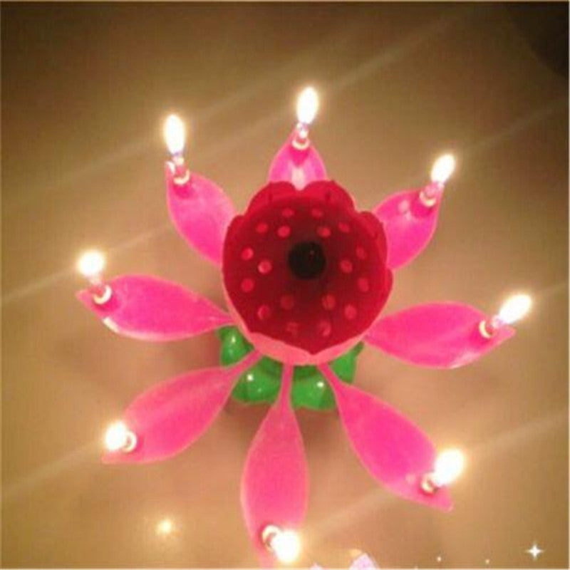 Musical Lotus Flower Happy Birthday Candle FashionCOUTURE Store