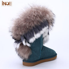 She Fur leather high winter snow boot