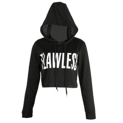 FLAWLESS Crop Top Hoodies Sweatshirt