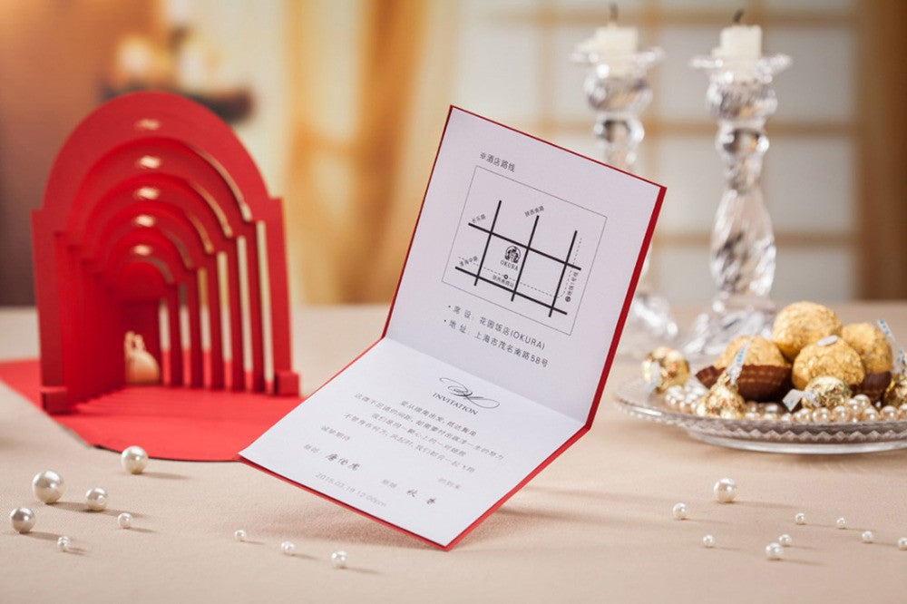 Laser Cut 3D Pop Up Wedding Invitations with Groom and Bride 50PCS ...