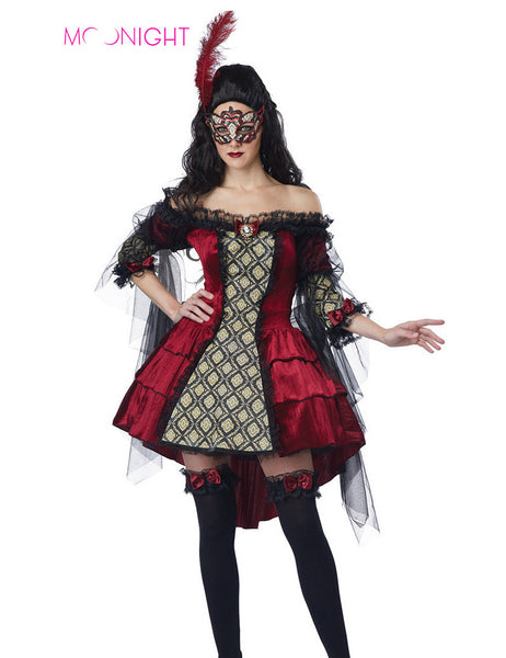 MOONIGHT Devil Costume Dresses With Mask