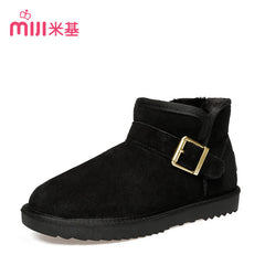 Ankle Snow Short Boots Slip-on Soft Warm