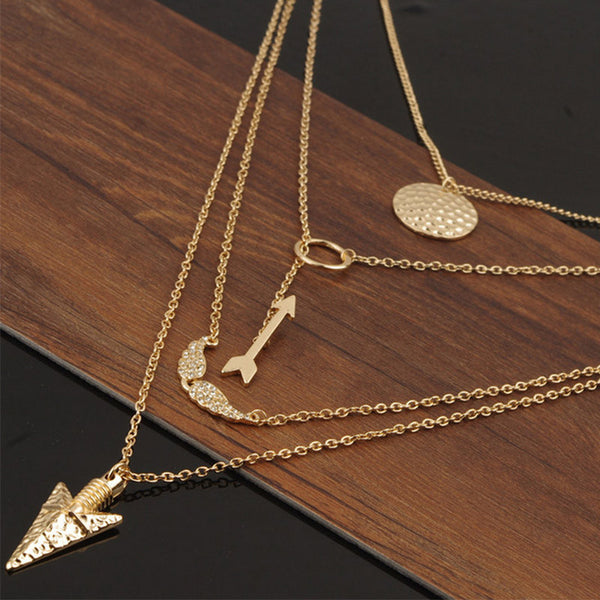 Multilayer Pendant Necklace For Women