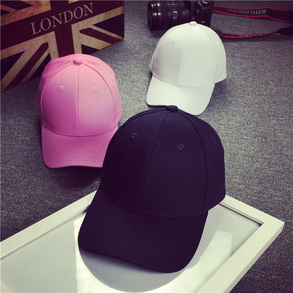 Hat Solid Color Women Men Snapback