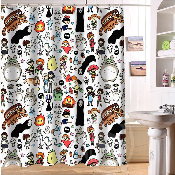Character Shower Curtain Bathroom Decor
