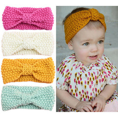 Baby Knit Crochet Elastic Turban Headband