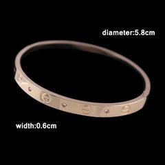 Silver And 18K Rose Gold Plated Concise Bracelets for Women