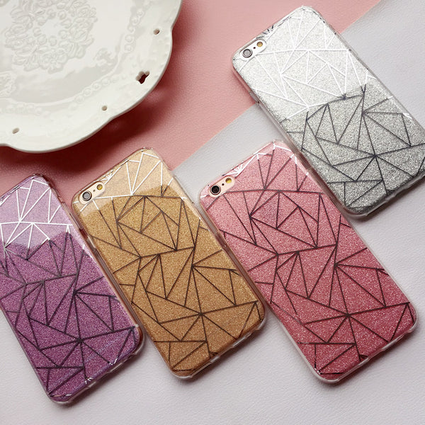 Glitter Diamond Pattern Phone Case for iphone 6 6s  7 plus case