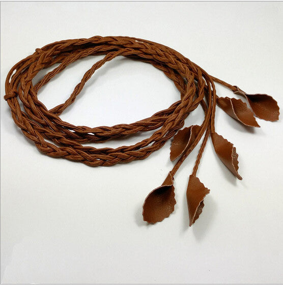 New leaves Woven Belts for Women