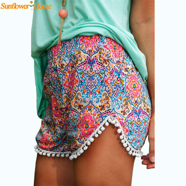Printed Summer High Waist Shorts