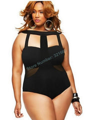 Bandage One piece Swimsuit Plus Size