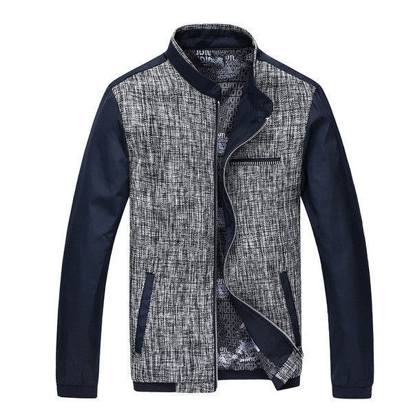 Patchwork Leisure Mens Jackets