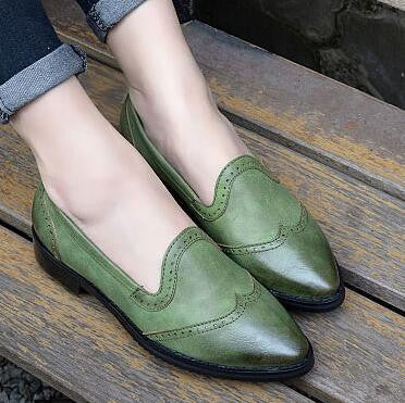 Vintage Preppy style Casual Women Flats