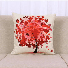Summer Flowers and Little Tree Printed pillows