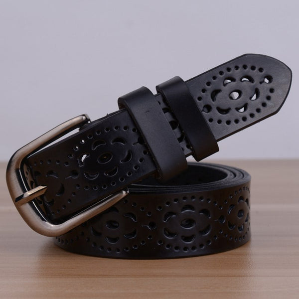 Genuine Leather female waist strap belt