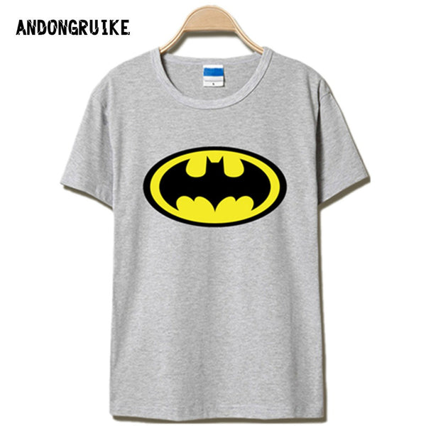 Anime Superman & Batman Logo Printed T Shirt