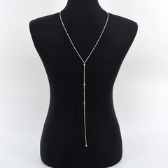 Backdrop Back Body Chain Necklace