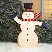 "Holiday Time Christmas Decor 56"" Fluffy Snowman Sculpture"